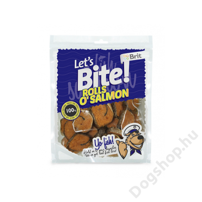 Brit Lets Bite Rolls o'Salmon 80 g