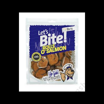 Brit Lets Bite Rolls o'Salmon 80 g
