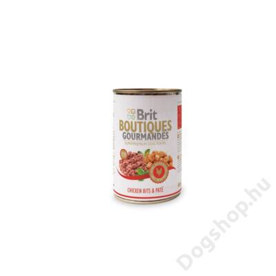 Brit Care Boutiqoes Gourmandes Konzerv Bits&paté Chicken 400g