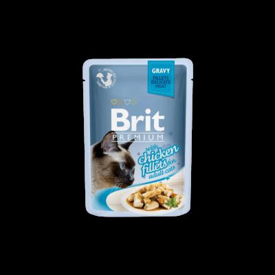 Brit Premium Cat tasakos Delicate Fillets in Gravy with Chicken 85g