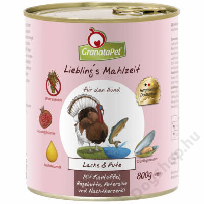 GranataPet Liebling´s Mahlzeit lazac és pulyka konzerv