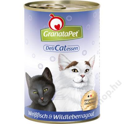 GranataPet Cat DeliCatEssen fehérhal és vadmáj ragu konzerv
