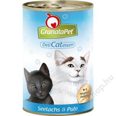 GranataPet Cat DeliCatEssen lazac és pulyka konzerv