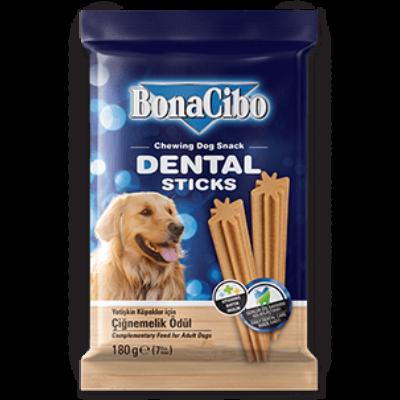 BONACIBO TREATS for DOGS DENTAL STICKS 180g
