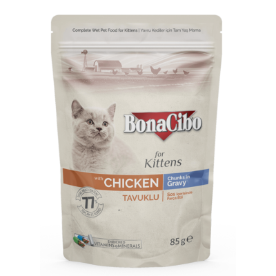 BONACIBO POUCH - WET KITTEN FOOD CHICKEN  85g