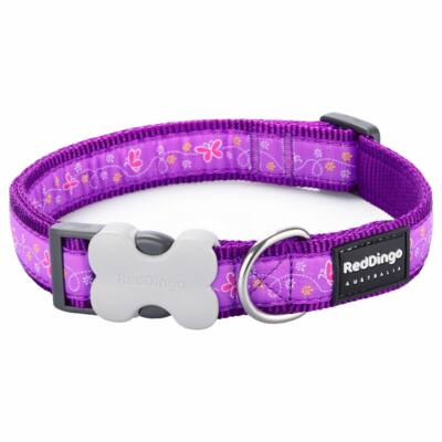 Red Dingo Butterfly Purple Medium kutya nyakörv