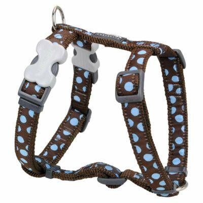 Red Dingo Blue Spots Brown Medium Dog hám