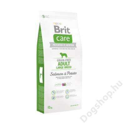 Brit Care Grain-free Adult Large Breed Salmon & Potato 12 kg 2db