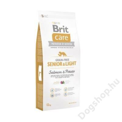 Brit Care Grain-free Senior and light Salmon & Potato 12 kg 2db