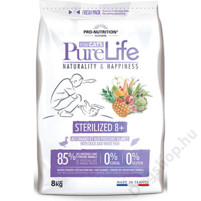 Flatazor Pure Life Chat Sterilized 8+ 2kg