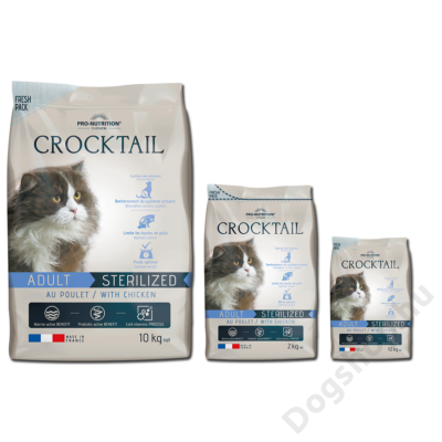 Flatazor Crocktail Adulte Sterilized with Chicken 10kg