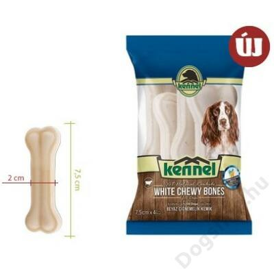 KENNEL CHEWING BONES WHITE CHEWY BONES 7,5 CM (4db) 100g