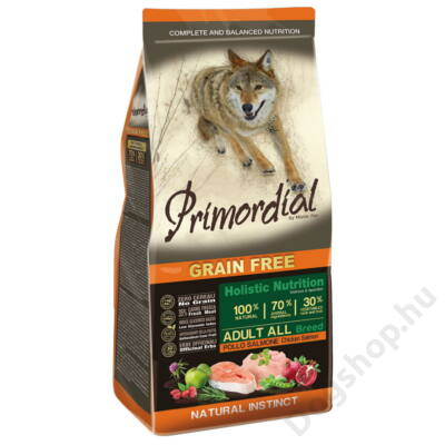 Primordial Grain Free Adult Csirke és Lazac 12kg