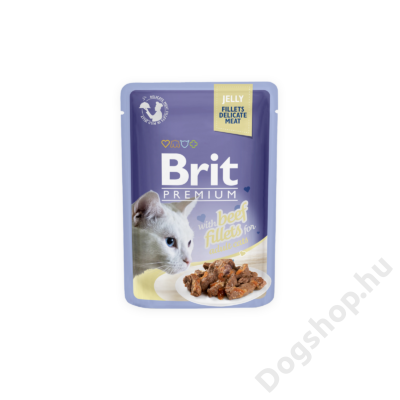Brit Premium Cat tasakos Delicate Fillets in Jelly with Salmon 85g