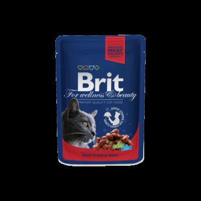 Brit Premium Cat Pouches Beef Stew With Peas 100 G