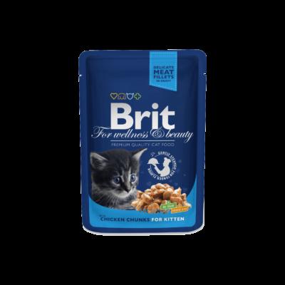 Brit Premium Cat Pouches Chicken Chunks For Kitten 100 G