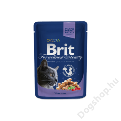 Brit Premium Cat Pouches With Cod Fish 100 G