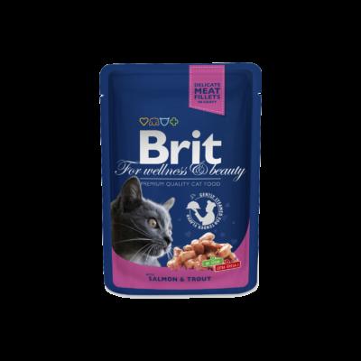 Brit Premium Cat Pouches Norwegian Salmon & Trout 100 G