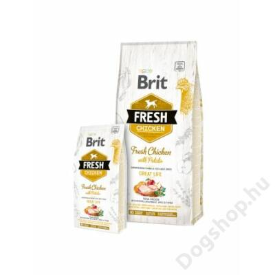 Brit Fresh Chicken with Potato Adult Great Life 12 kg