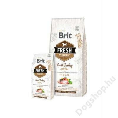 Brit Fresh Turkey with Pea Adult Fit & Slim 12 kg
