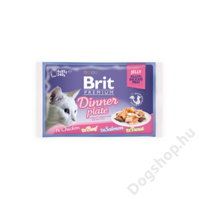 Brit Premium Cat tasakos Delicate Fillets in Jelly Family Plate 12x85g