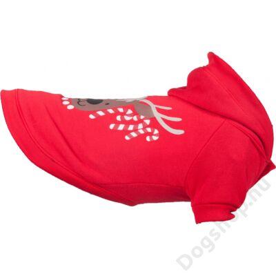 Flamingo karácsonyi pulóver LED piros 30 cm