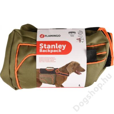 Flamingo kutyának hátizsák 32x27 cm L