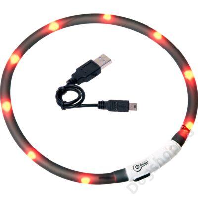 Flamingo nyakörv villogó/világító led+USB feke 70 cm
