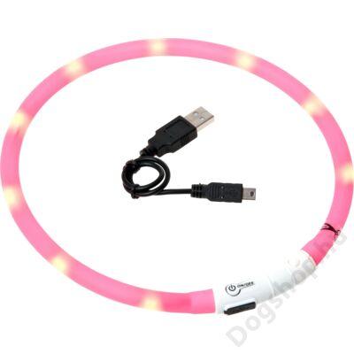 Flamingo nyakörv villogó/világító led+USB pink 70 cm