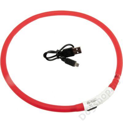 Flamingo nyakörv villogó/világító led+USB piros 70 cm