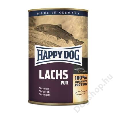 Happy Dog konzerv LACHS PUR (Lazac) 12x400g