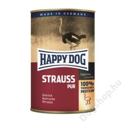 Happy Dog konzerv STRAUSS PUR (Strucc) 12x400g