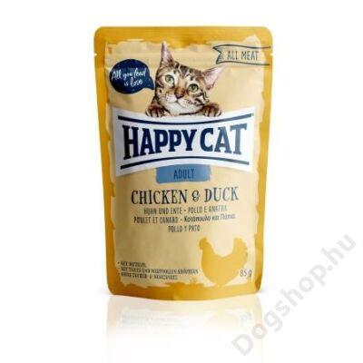 HAPPY CAT POUCH HÚS ADULT CSIRKE-KACSA 24x85g