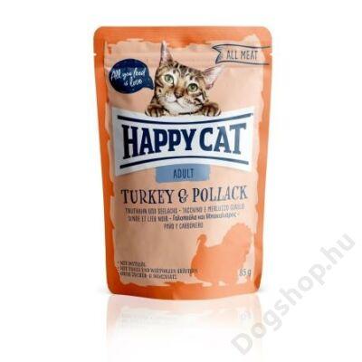 HAPPY CAT POUCH HÚS ADULT PULYKA-TŐKEHAL 24x85g