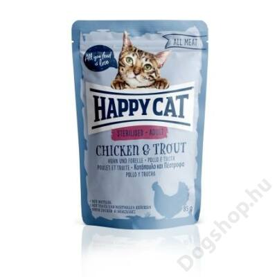 HAPPY CAT POUCH HÚS STERIL CSIRKE-PISZTRÁNG 24x85g