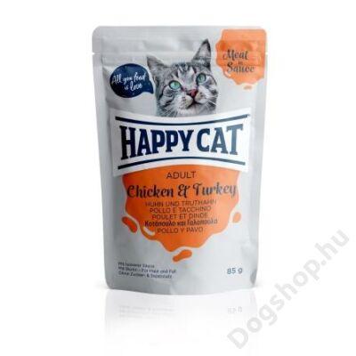 HAPPY CAT POUCH SZÓSZ CSIRKE-PULYKA 24x85g