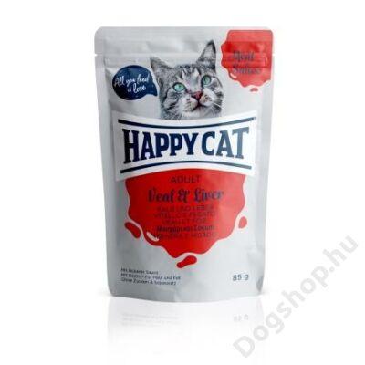 HAPPY CAT POUCH SZÓSZ BORJÚ-MÁJ 24x85g