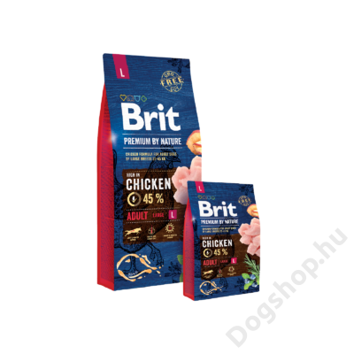 Brit Premium by Nature Large Adult 2db 15kg