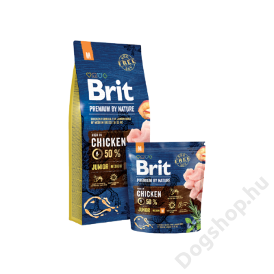 Brit Premium by Nature Medium Junior 2db 15kg