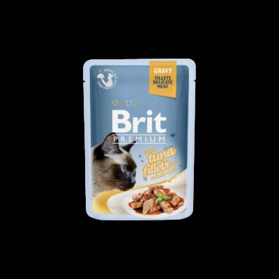 Brit Premium Cat tasakos Delicate Fillets in Gravy with Tuna 85g